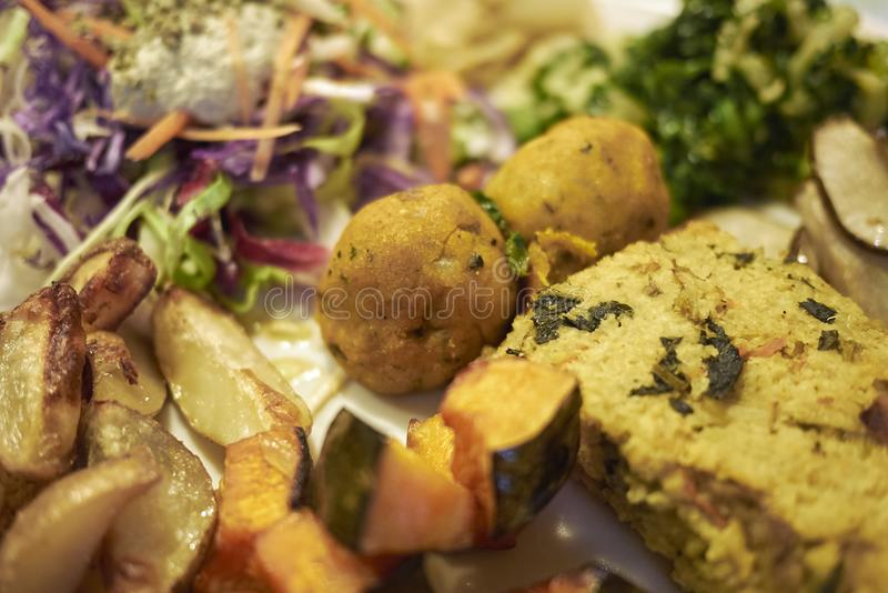 Assorted vegetarian plate royalty free stock photography
