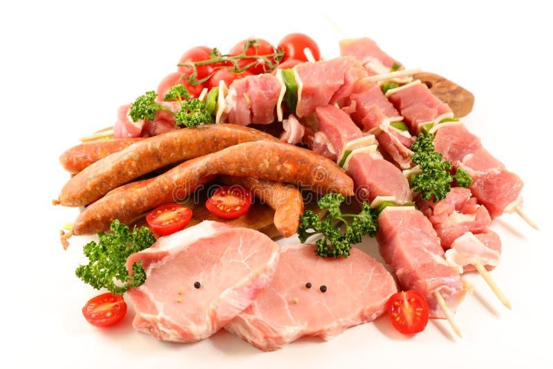Assorti des viandes crues images stock
