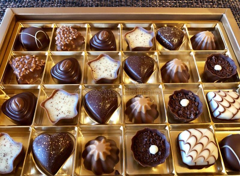 Assortiment av fin schweizisk choklad arkivbilder