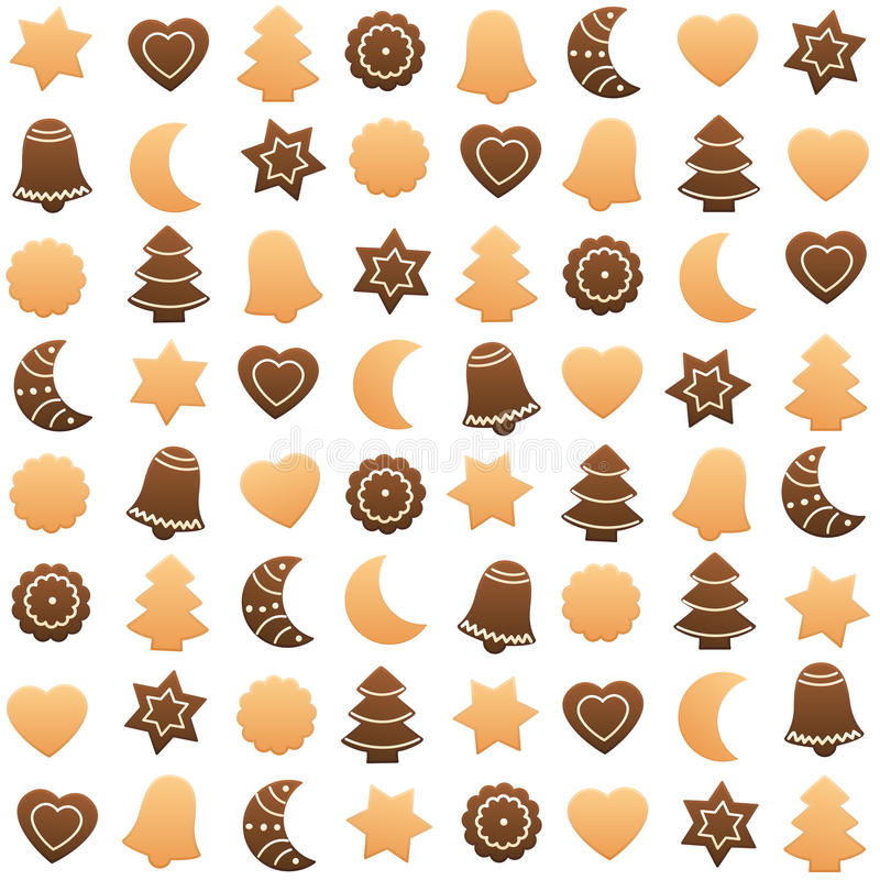 Assortiment de biscuits de Noël illustration libre de droits