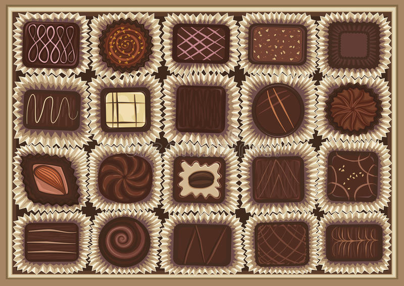 Assortiment de chocolat illustration libre de droits