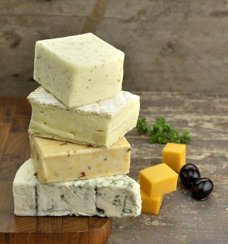 Assortiment de fromage photos stock