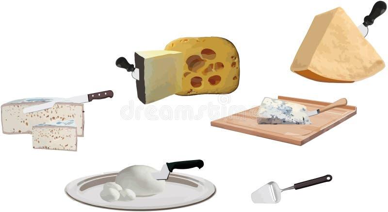Assortiment de fromage illustration libre de droits