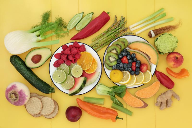 Assortiment de nourriture biologique de Vegan photos libres de droits