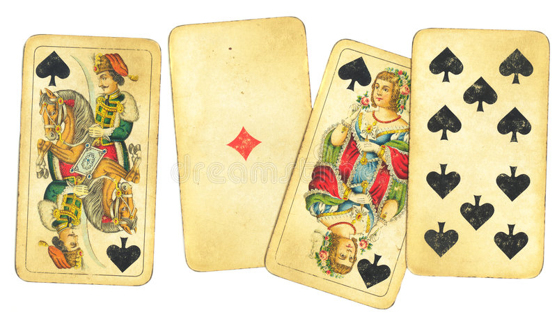 Assortiment des cartes de jeu de cru illustration de vecteur