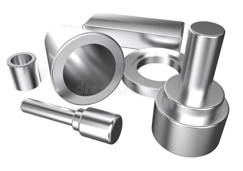 Assortiment métallique de pièces illustration libre de droits