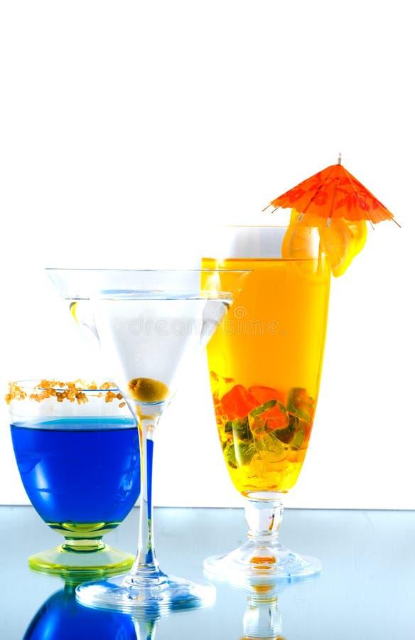 Assortiment van cocktails royalty-vrije stock fotografie
