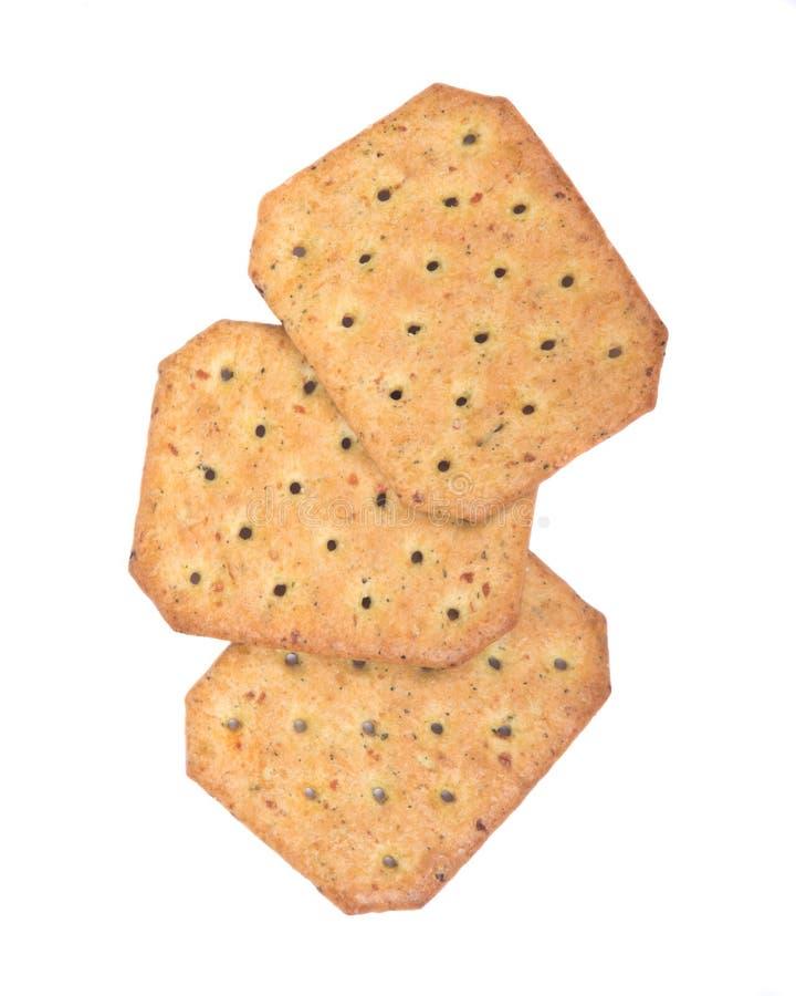 Assortiment van crackers stock afbeeldingen