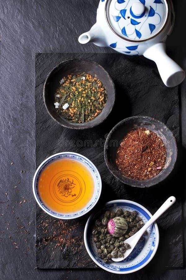 Assortiment van droge thee royalty-vrije stock afbeelding