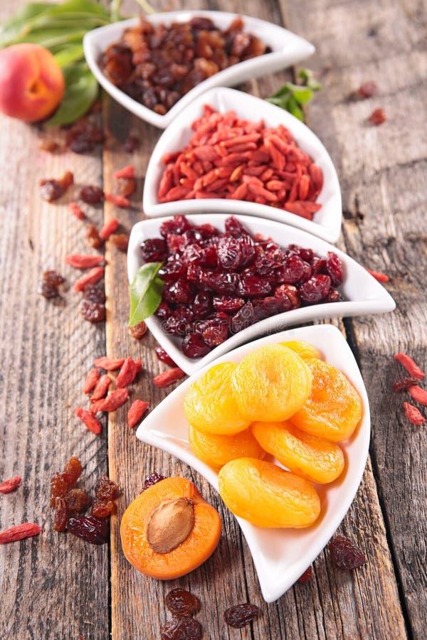 Assortiment van droog fruit royalty-vrije stock afbeelding