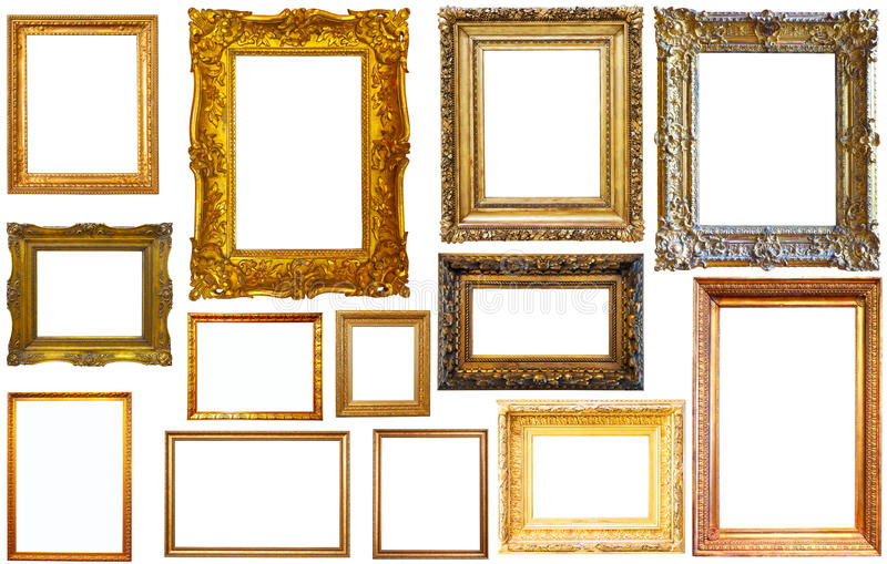 Assortiment van geïsoleerde kaders royalty-vrije stock afbeelding