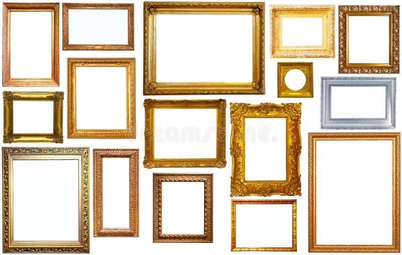 Assortiment van geïsoleerde kaders stock afbeelding