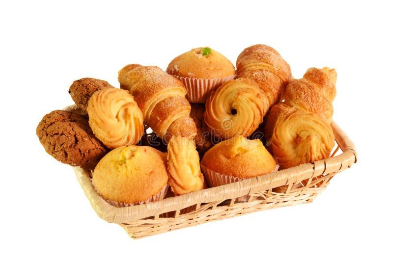 Assortiment van gebakjes en koekjes stock foto's