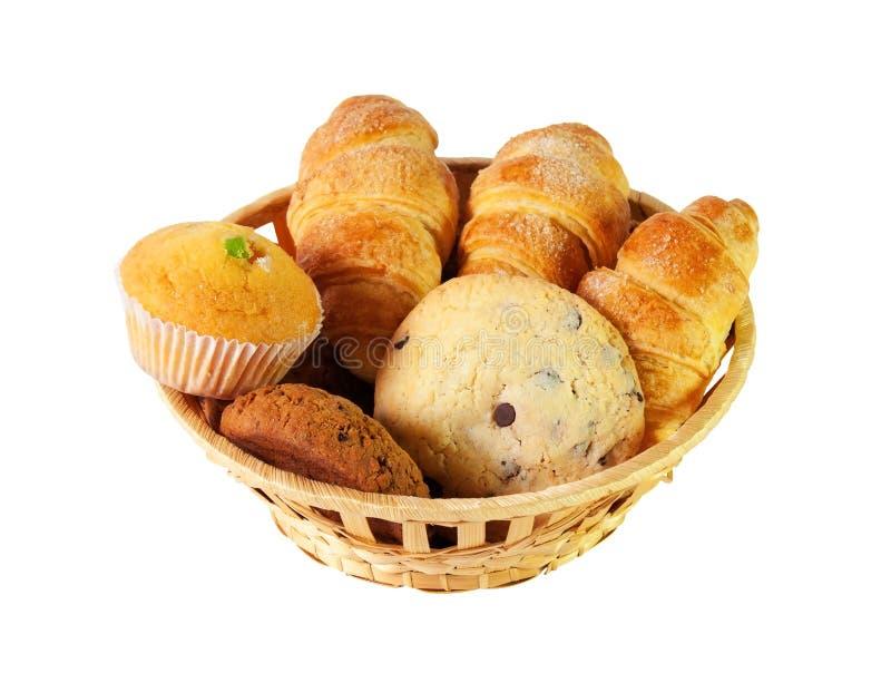 Assortiment van gebakjes en koekjes Selectieve nadruk stock foto's