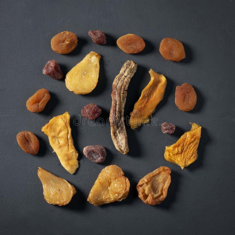 Assortiment van gedroogd fruit royalty-vrije stock foto