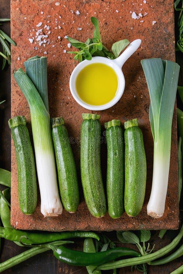 Assortiment van groene groenten royalty-vrije stock foto's