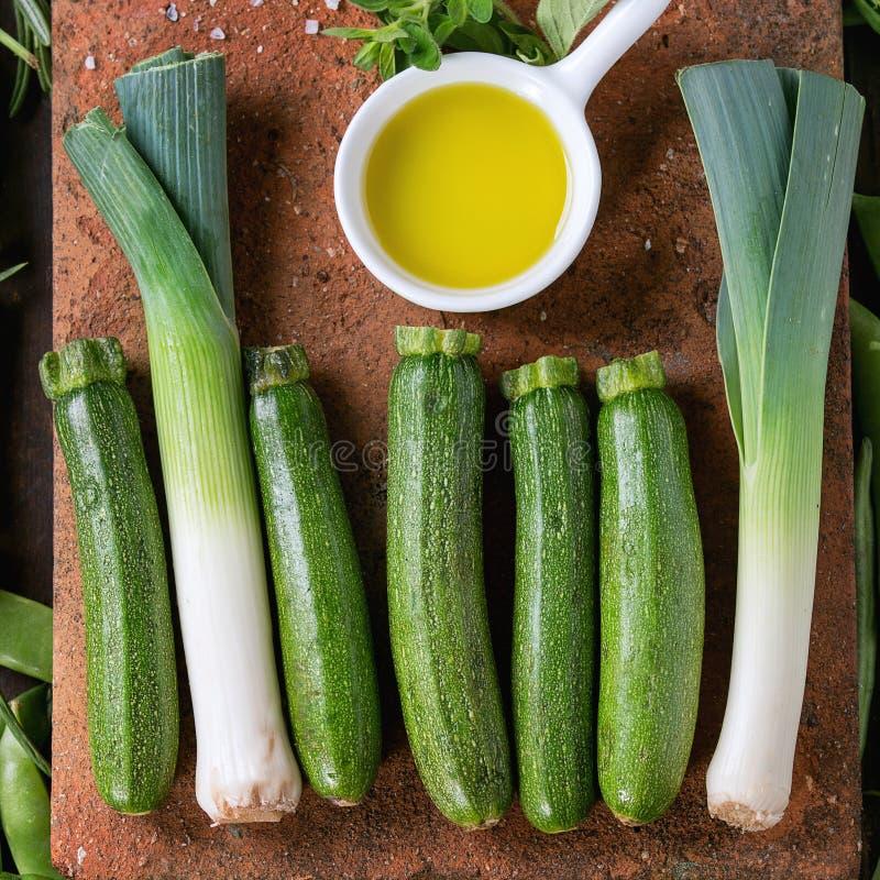 Assortiment van groene groenten royalty-vrije stock fotografie