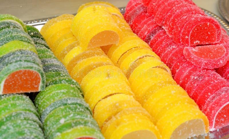 Assortiment van het kleurrijke suikergoed van de fruitgelei royalty-vrije stock foto