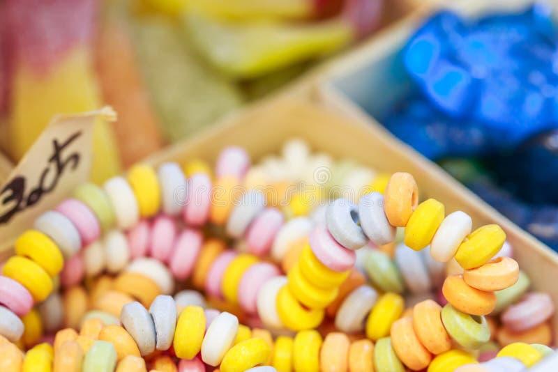 Assortiment van kleurrijk suikergoed stock foto