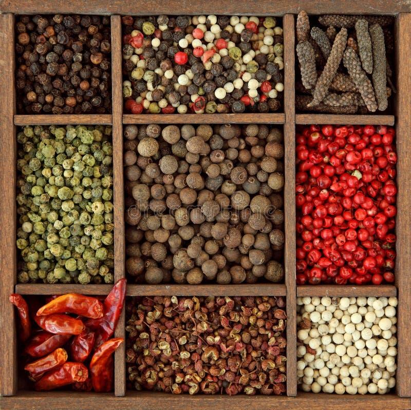 Assortiment van peperbollen stock afbeelding