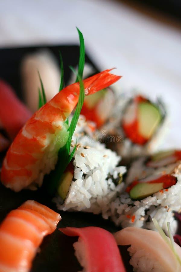 Assortiment van Sushi stock afbeeldingen