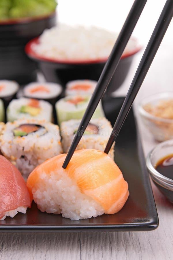 Assortiment van sushi royalty-vrije stock afbeelding