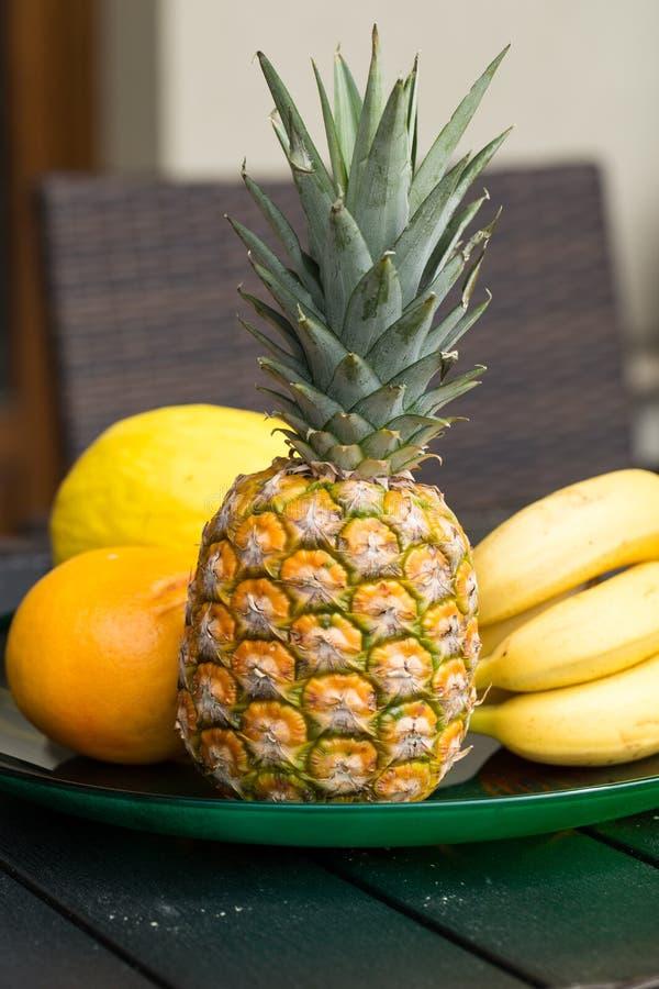 Assortiment van verse exotische vruchten stock fotografie