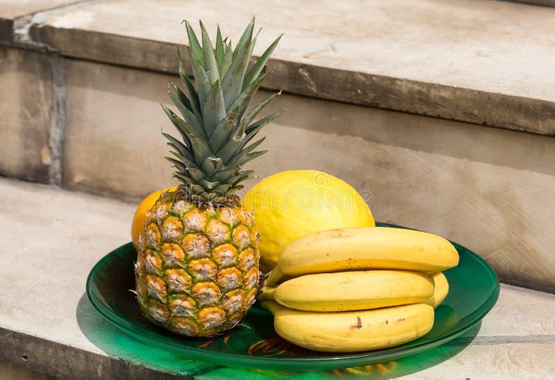 Assortiment van verse exotische vruchten stock foto