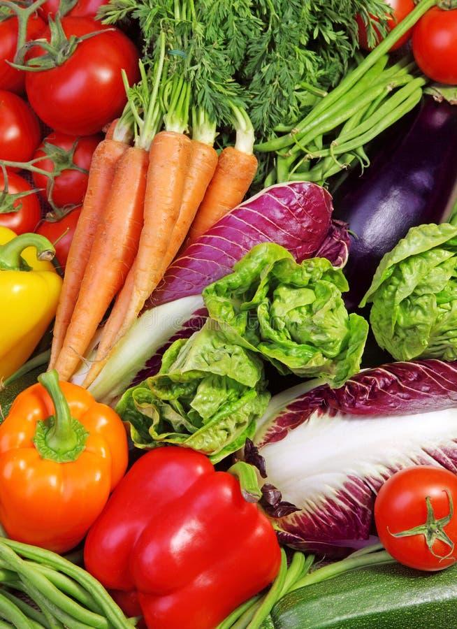 Assortiment van verse groenten stock fotografie
