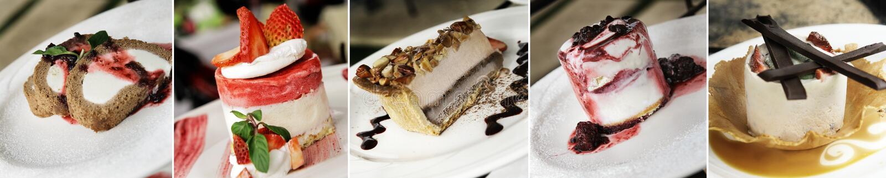 Assortimento del dessert immagine stock