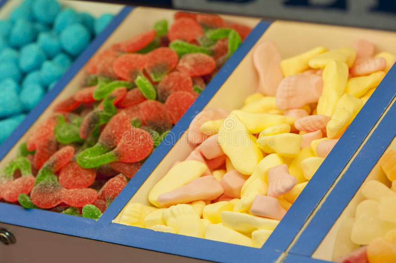 Assortimento delle caramelle fotografie stock libere da diritti