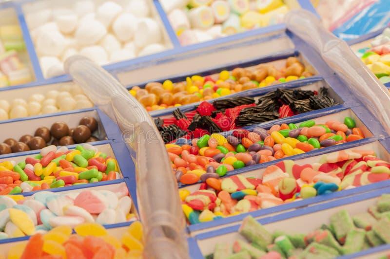Assortimento delle caramelle fotografie stock