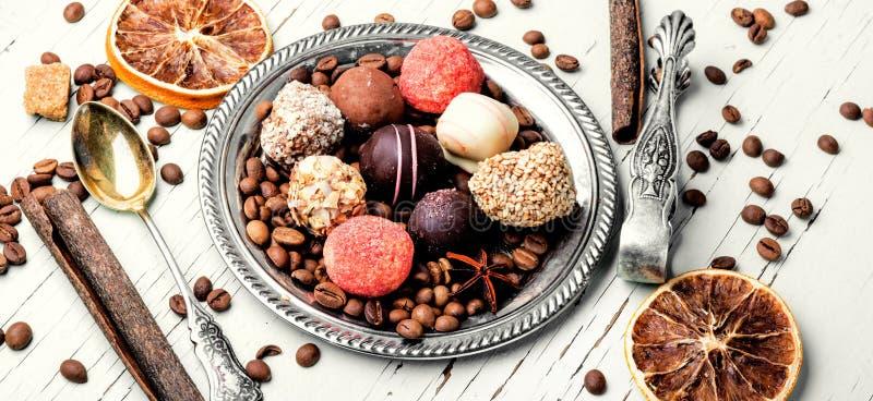 Assortimento delle caramelle di cioccolato fotografie stock