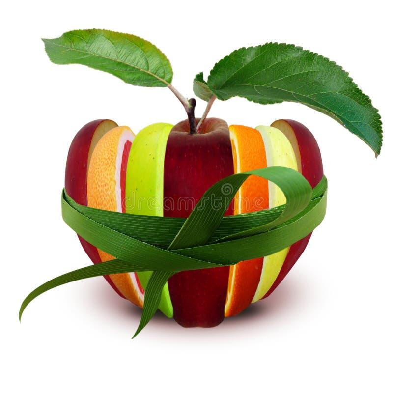 Assortimento delle mele, del pompelmo e dell'arancia affettati del ‹del †del ‹del †immagine stock libera da diritti