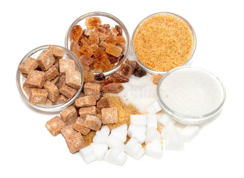 Assortimento dello zucchero fotografia stock libera da diritti