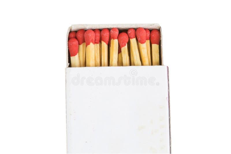 Assortissez les bâtons dans la boîte avec le chemin de coupure d'isolement sur le backgro blanc images stock