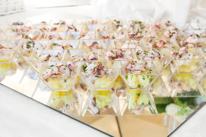 Assortment Appetizers and finger food royalty free stock photo