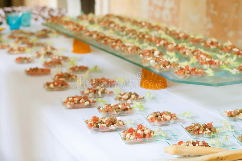 Assortment Appetizers and finger food stock photography