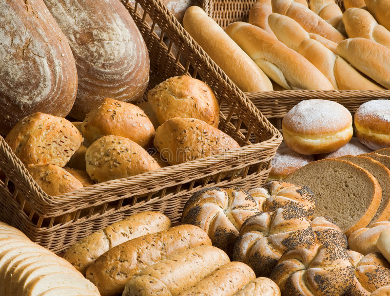 Assortment of bakery goods royalty free stock images