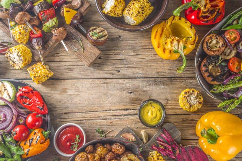 Assortment barbecue vegan food royalty free stock photos