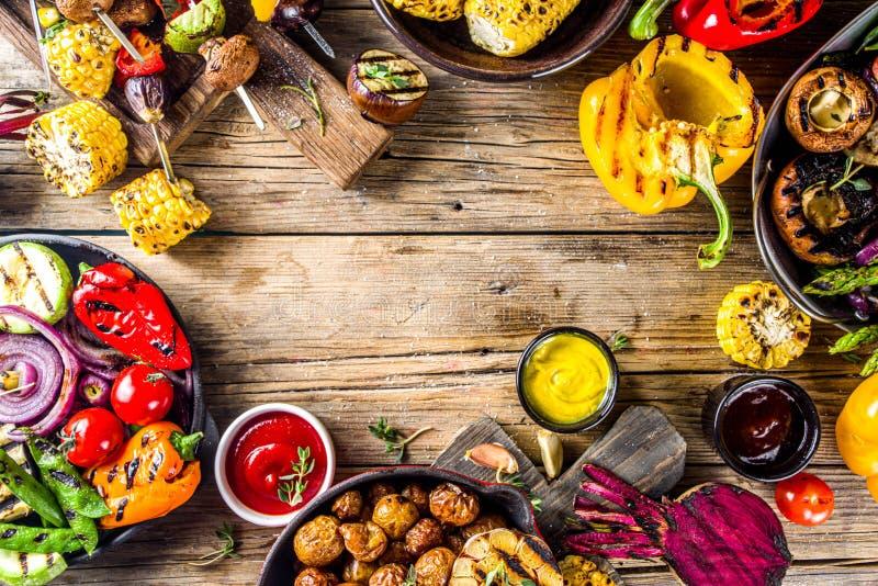 Assortment barbecue vegan food stock images
