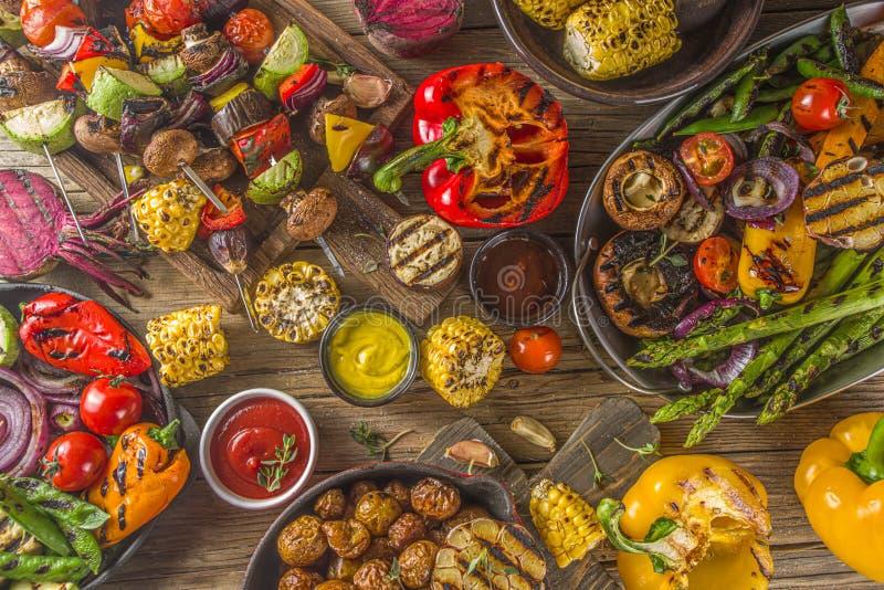 Assortment barbecue vegan food royalty free stock image