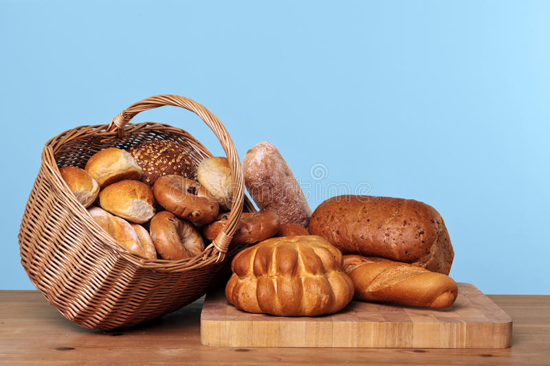 Download Assortment Of Bread In A Basket Royalty Free Stock Photo - Image: 21770935