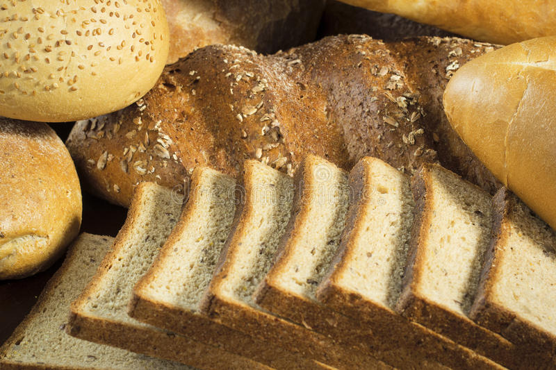 Assortment of bread stock photography