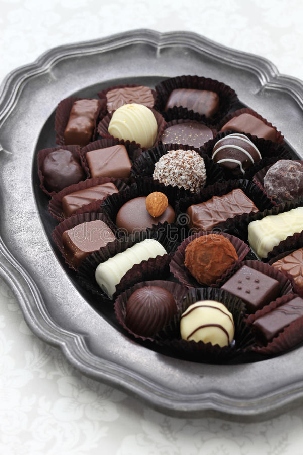 Assortment of chocolate royalty free stock images