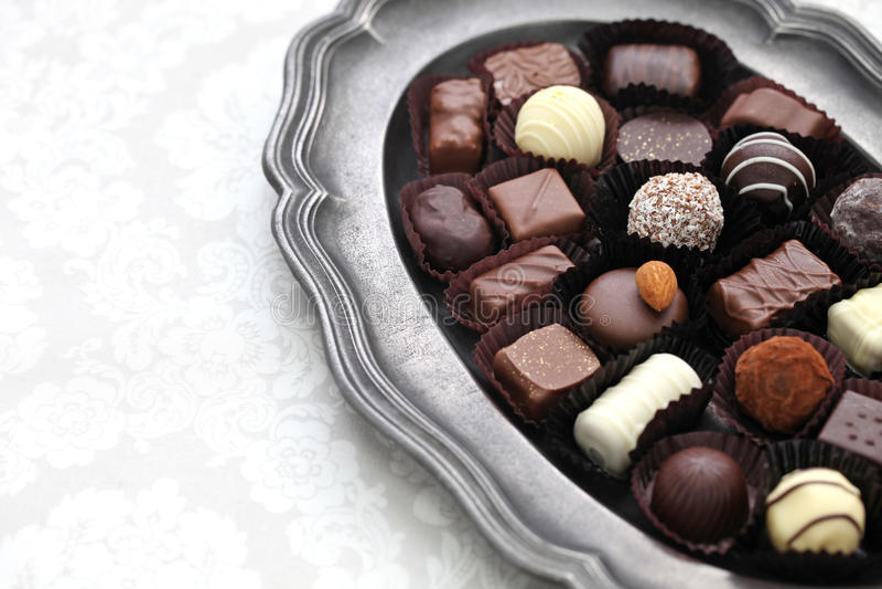 Assortment of chocolate royalty free stock photos