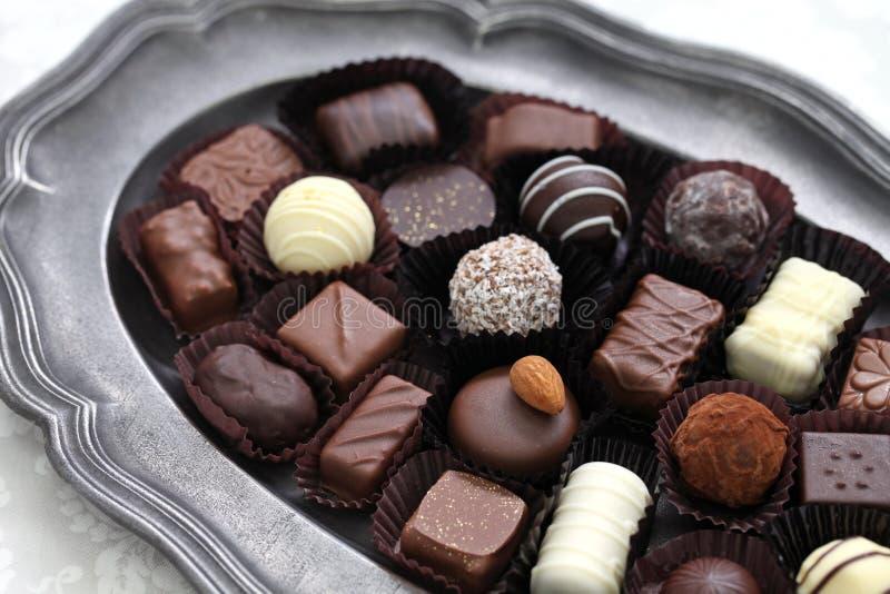 Assortment of chocolate royalty free stock photo