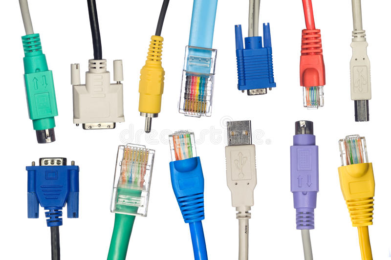 Download Assortment Of Computer Cables Stock Image - Image of studio, photography: 13245907