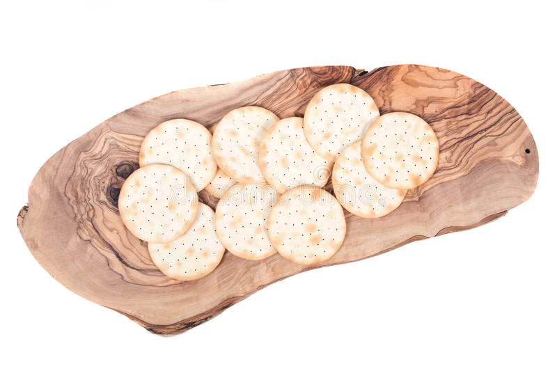 Assortment of crackers royalty free stock photo