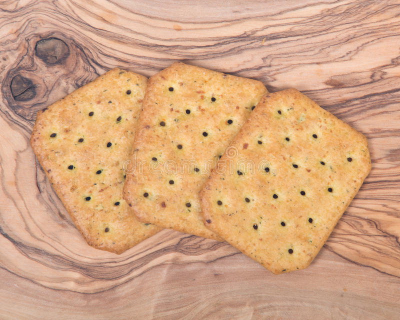 Assortment of crackers royalty free stock image
